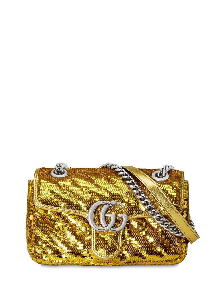 GUCCI Mini Gg Marmont 2.0 Sequins Shoulder Bag