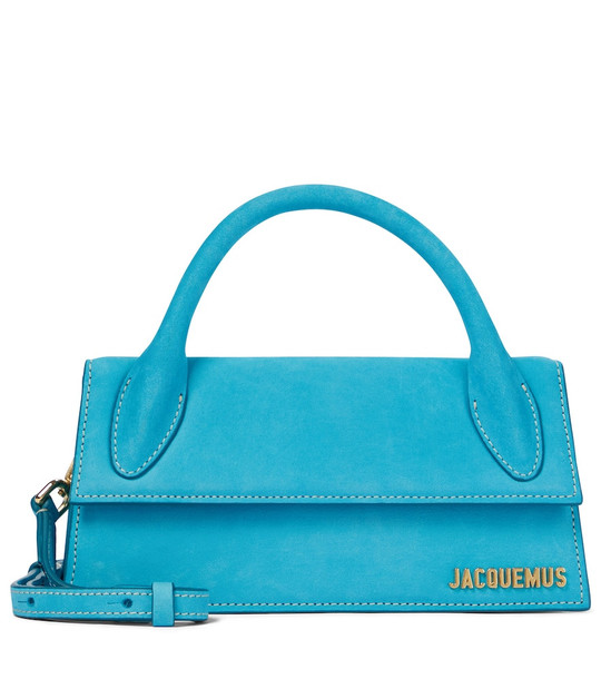 Jacquemus Le Chiquito Long leather tote in blue