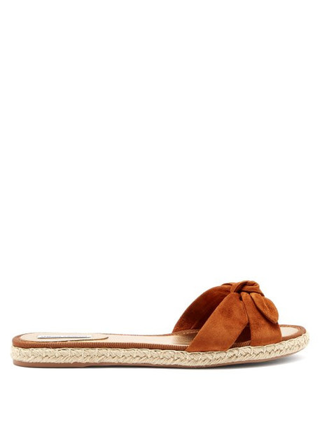 Tabitha Simmons - Heli Knotted Suede Espadrilles - Womens - Tan
