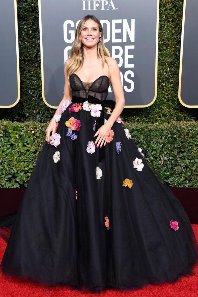 dress bustier bustier dress heidi klum celebrity red carpet dress gown tulle skirt golden globes