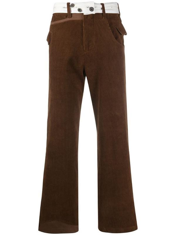 Ader Error straight-leg corduroy trousers in brown