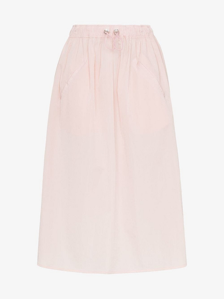 Mira Mikati elasticated waist midi skirt in pink / purple