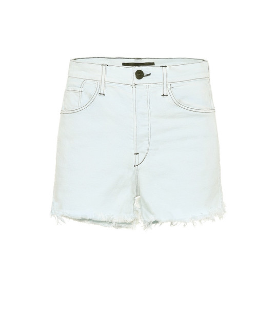 3x1 Carter high-rise denim shorts in blue
