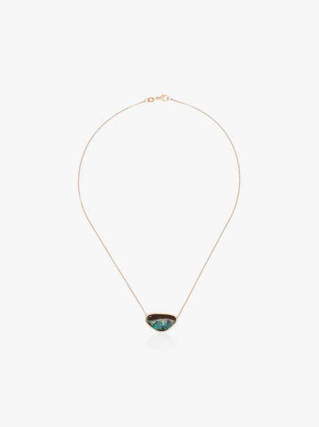 Kimberly Mcdonald opal pendant necklace in blue / gold / rose
