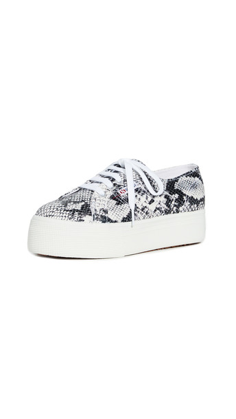 Superga 2790 Animal Platform Sneakers in black / white