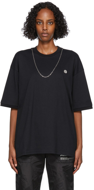 AMBUSH Black Chain Collar T-Shirt