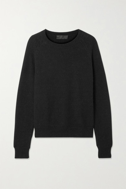 Nili Lotan - Vesey Merino Wool And Alpaca-blend Sweater - Black