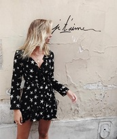 dress,stars,summer,black,pretty