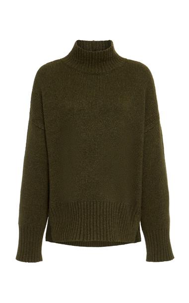 FRAME Wool-Blend Turtleneck Sweater Size: XS in green