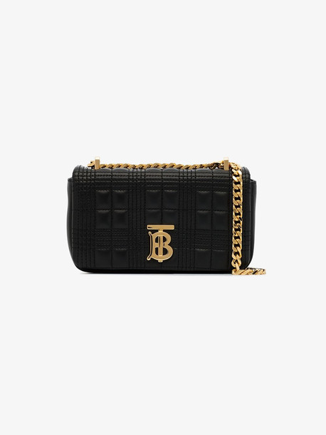 Burberry black Lola quilted bag