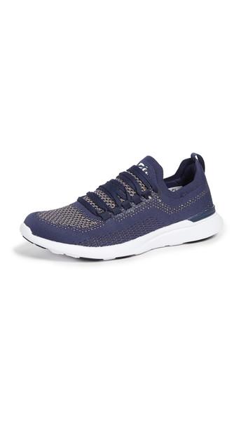 APL: Athletic Propulsion Labs TechLoom Breeze Sneakers in navy / gold / metallic / white