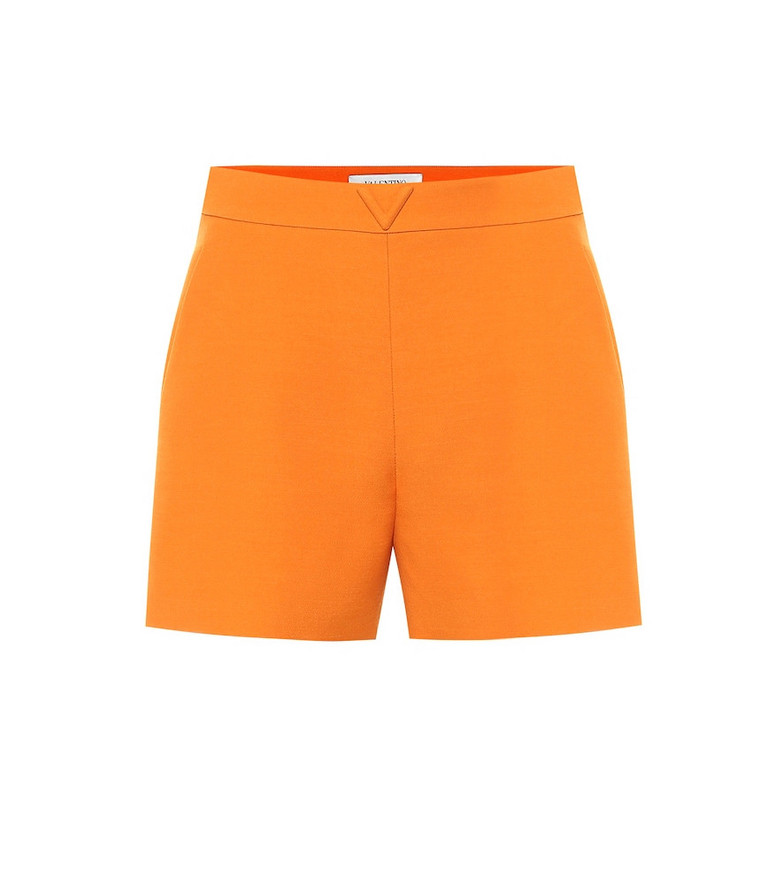 Valentino Wool and silk shorts in orange