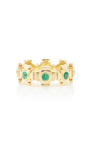 ARK Gateways 18K Gold Emerald Ring Size: 3.5