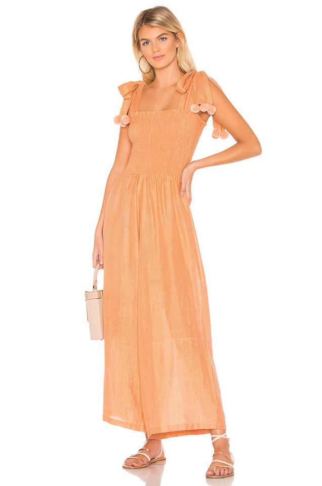 Sundress Pippa Jumpsuit in metallic / copper