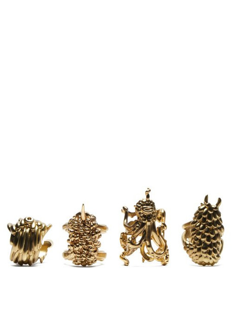 L'objet - X Haas Brothers Monster Ball Napkin Rings - Gold
