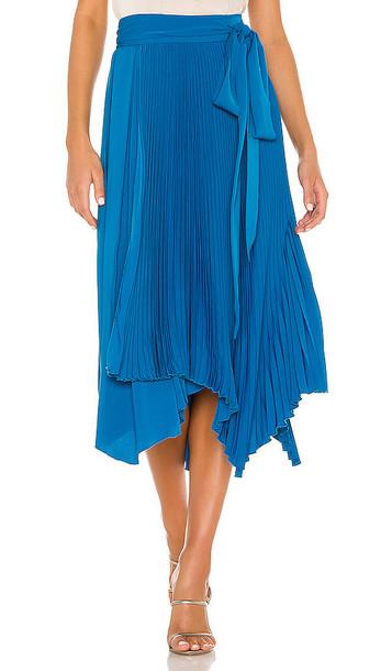 AMUR Delia Skirt in Blue