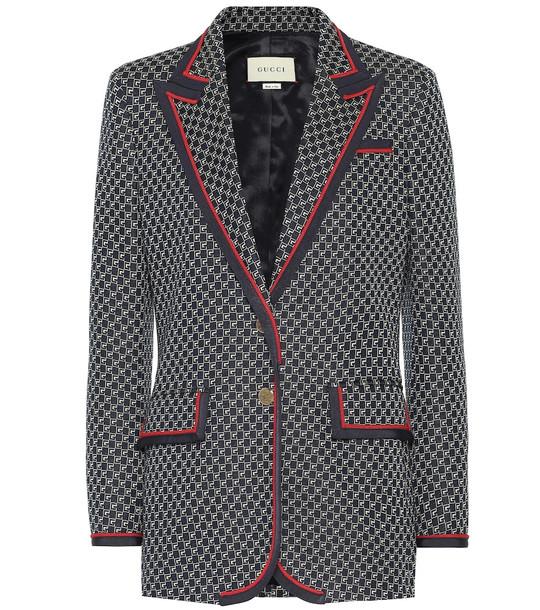 Gucci Cotton blazer in black