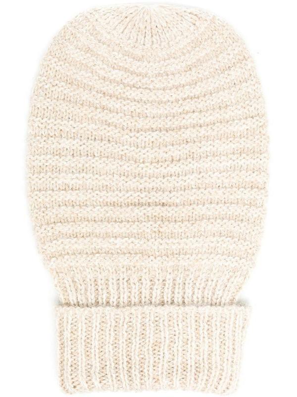 Peserico rib-knit beanie hat in neutrals