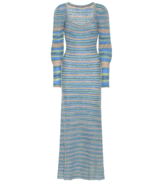 Jacquemus La Robe Perou mohair-blend midi dress in blue