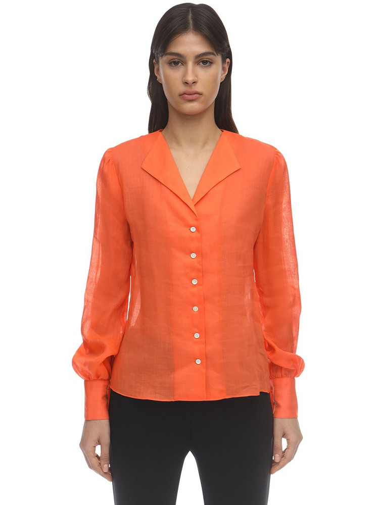 MARYAM NASSIR ZADEH Balance Gauze Shirt in orange