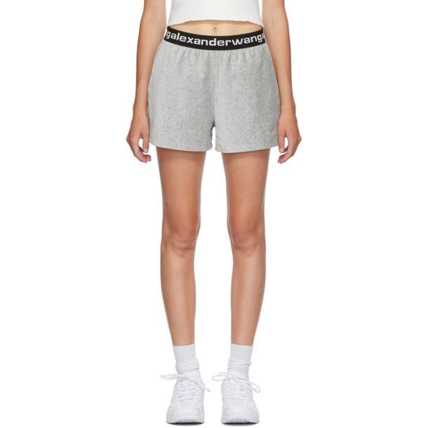 alexanderwang.t Grey Logo Corduroy Shorts