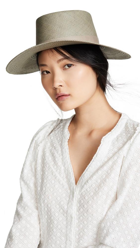 Janessa Leone Rena Boater Hat in silver
