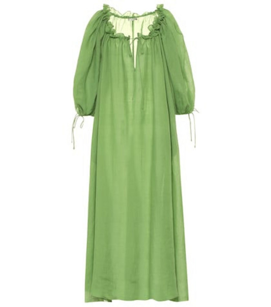 Three Graces London Exclusive to Mytheresa – Almost A Honey Moon ramie dress in green