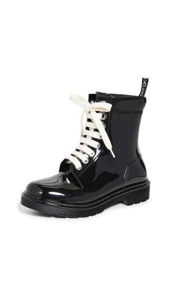 Sergio Rossi Winter Jelly Boots in black