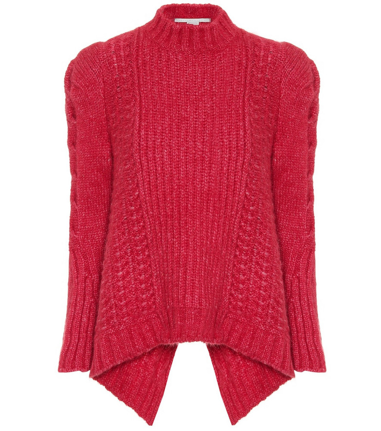 Stella McCartney Cable-knit alpaca-blend sweater in pink