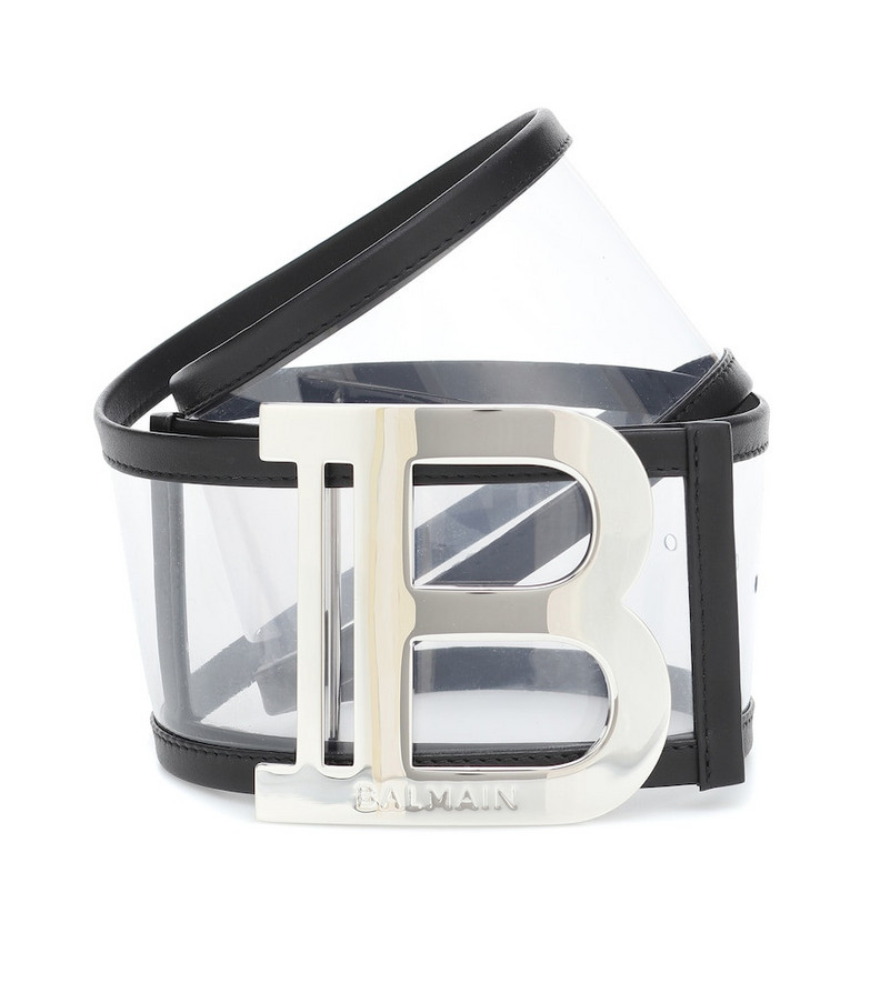 Balmain Logo PVC belt in black
