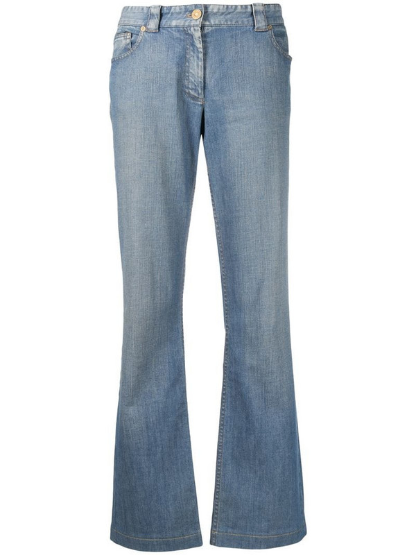 Céline Pre-Owned pre-owned carriage logo bootcut jeans in blue
