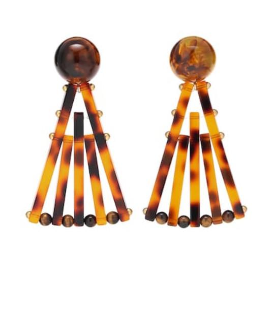 Cult Gaia Fan earrings in brown