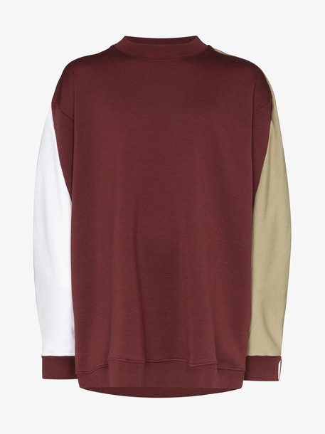 Y/Project Winged stripe back sweater