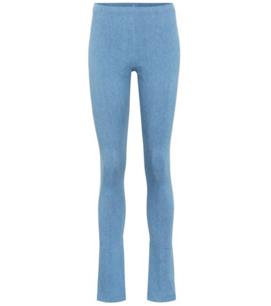 Junya Watanabe High-rise stretch denim pants in blue
