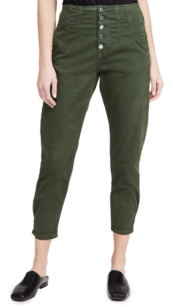 Veronica Beard Jean Nita Pegged Trousers in green