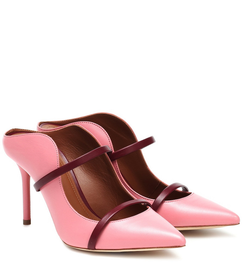 Malone Souliers Maureen 85 leather mules in pink