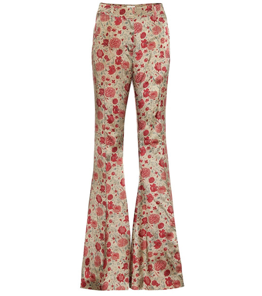 Khaite Stockard high-rise flared pants in beige