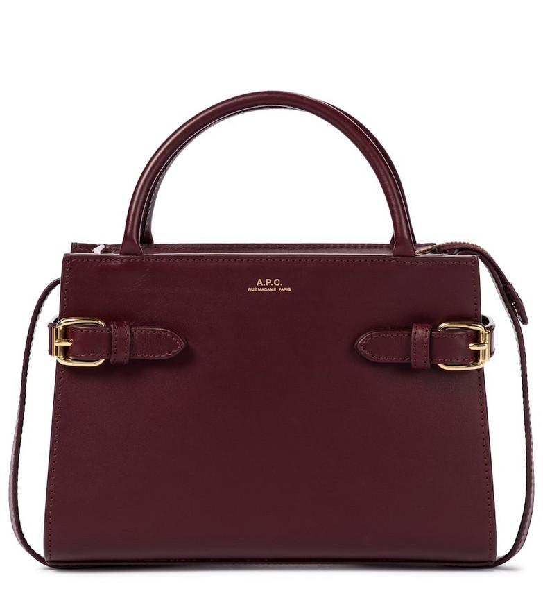 A.P.C. Farrah Mini leather shoulder bag in red