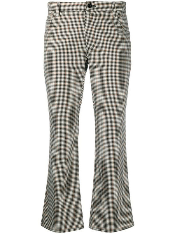 Altea gingham check cropped trousers in neutrals