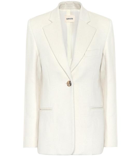 Khaite Vera wool and alpaca-blend blazer in white