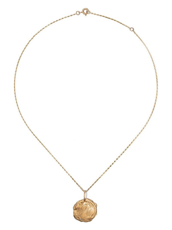 Pascale Monvoisin 9kt yellow gold diamond Initiale N°3 necklace