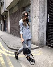 jacket,blazer,double breasted,na-kd,plaid,straight pants,black shoes,platform shoes,black bg