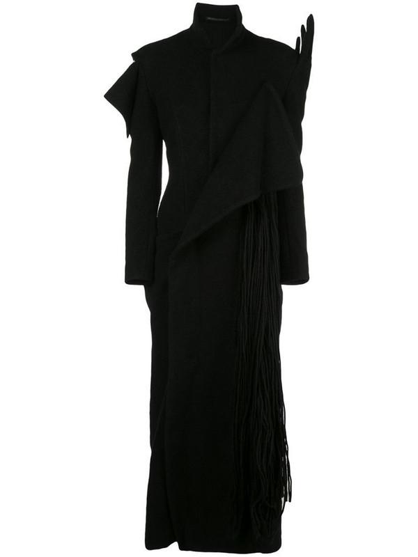 Yohji Yamamoto hand detail dress in black