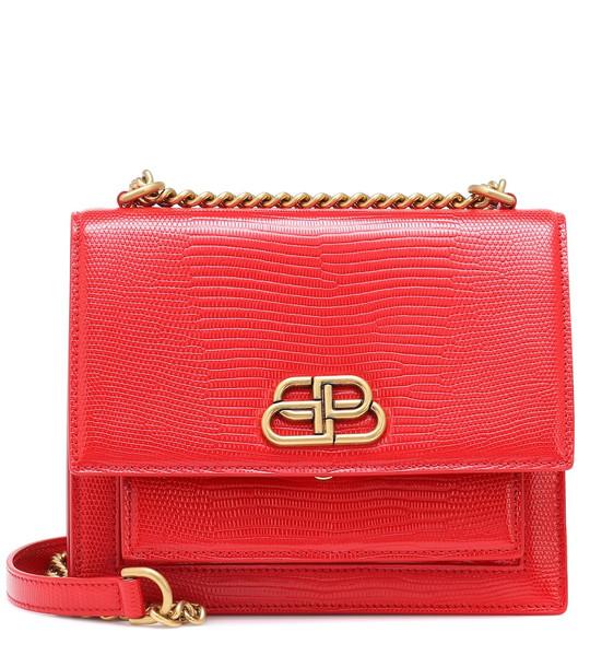 Balenciaga Sharp M leather shoulder bag in red