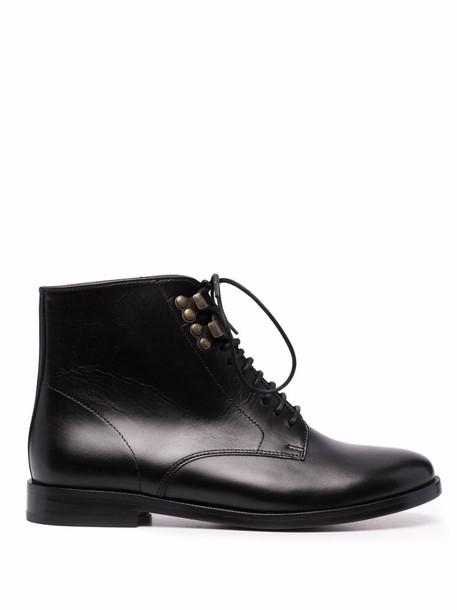 A.P.C. A.P.C. Frances lace-up ankle boots - Black