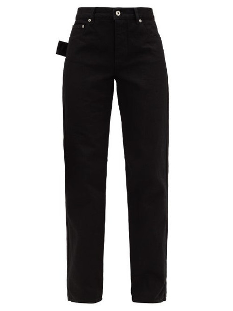 Bottega Veneta - High-rise Slouchy-fit Straight-leg Jeans - Womens - Black