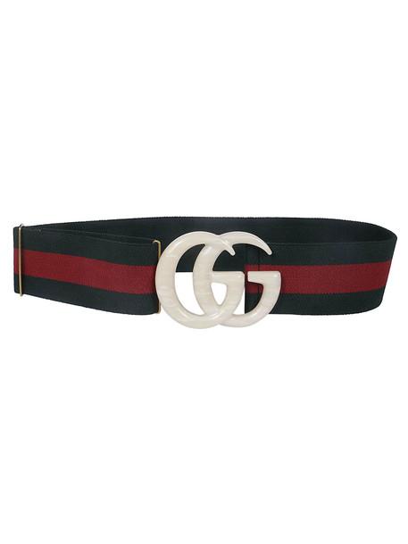 Gucci Elastic Web Belt in white