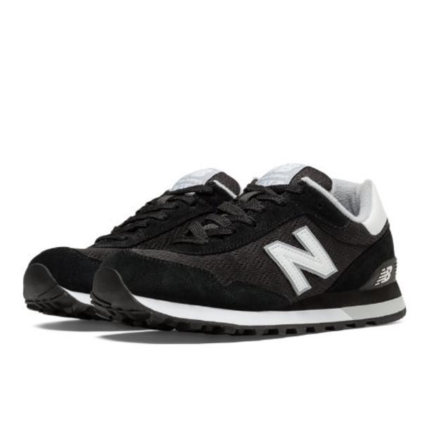 New Balance 515 Women's Running Classics Shoes - Black, White (WL515PGW)
