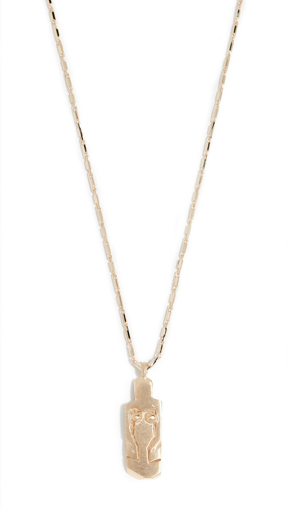 Lucy Folk Afterlife Pendant Necklace in gold / yellow