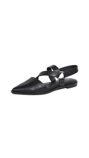 Frye Kenzie Strappy Harness Flats in black
